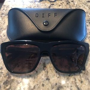 Diff Harper 57 mm Polarized Gradient Sunglasses